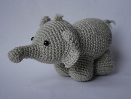 Häkelanleitung Elefant Olivier