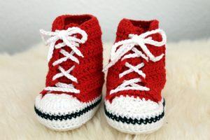 Baby Turnschuhe Häkeln Für Den Kleinen Fussballfan Fortuna